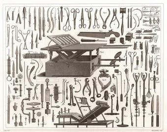 1850 Surgical Instruments Of The 19th Century, JG Heck NEW Giclee Art Print Poster Civil War Medical Art Drawing Illustration Engraving P28