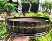 """Round Bonsai Pot -Noir 11"""" x  2.875"""""""