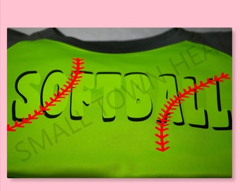 Softball with Laces Raglan Colorblock Fleece Crewneck