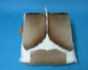 Springbok Fur and Leather Bag (1112-SCB-MD-G02)