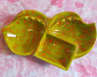 Retro Groovy Ashtray green orange