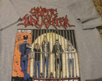 Cryptic Slaughter T shirt Size L