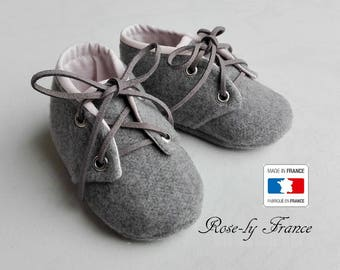 Slippers in wool and baby powder pink