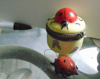 3 dimensional Lady Bug with Lady bug trinket