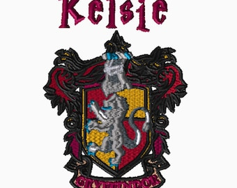 Custom Embroidery File, Harry Potter, Digital File, Embroidery Pattern, Gryffindor, Choose Your Format, Choose Your Size