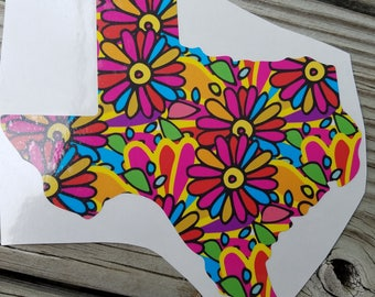 Texas Whimsical Patterned Vinyl Decal