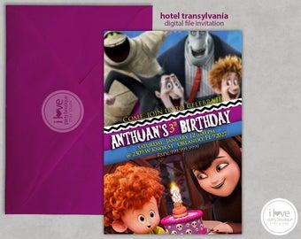 Hotel Transylvania invitation