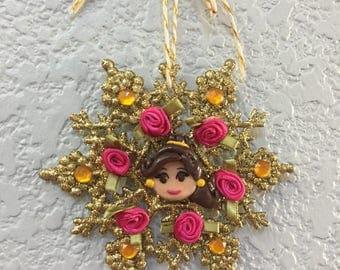 Belle emoji ornament