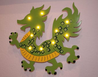 Nursery lamp Green Dragon