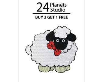 Sheep wirh Black Face Iron on Patch by 24PlanetsStudio