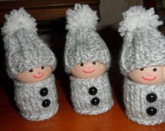 trio of Elves in champagne corks