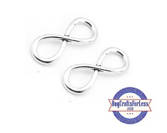 "INFINITY Simple CONNRCTeR Charm, 1"", 8, 16, 24 pcs  +FREE SHiPPiNG & Discounts*"