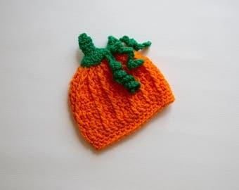 Preemie pumpkin hat, newborn pumpkin hat, newborn pumpkin, newborn halloween hat, preemie halloween hat,newborn girl pumpkin,preemie pumpkin