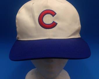 Vintage Chicago Cubs American Needle Block Head SnapBack Hat Adjustable