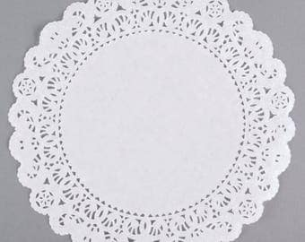 "10"" 100PCS White Paper Lace Grease Proof Doilies, Paper Doilies, Doily, Lace Doily, Lace Doilies, Grease Proof Doilies, White Lace Doily"