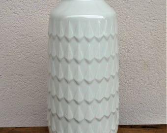 Midcentury 60 Large 28 cm white porcelain vase Hutschenreuther Hohenberg