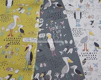 Japan Import cotton Linen hashibirokou fabric - 50cm