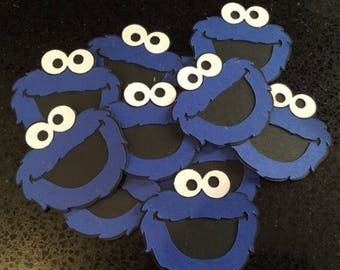 "4"" x 4"" ELMO Cookie monster DieCuts, Elmo Birthday Party, Elmo Birthday Decoration, Sesame Street Birthday  Party Decor Die Cuts Scrapbook S"