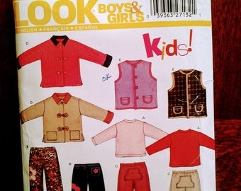New Look 6314  kids jacket, vest, pants