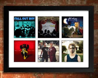 FALL OUT BOY Vinyl Albums Limited Edition Unframed A4 Art Print mini poster