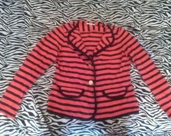 Nautical Striped Red and Blue Blazer