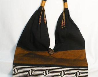 Shoulder bag, fabric bag, sling bag, handmade fabric bag