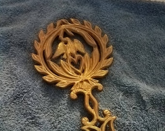 Vintage Brass Eagle Trivet