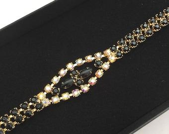 1950's Black Rhinestone Bracelet
