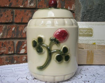 Brush-McCoy Red Clover Pottery- Cookie Jar/ Canister
