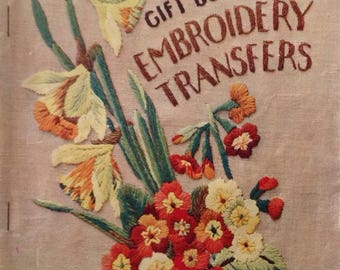Vintage Home Journal book of 100 embroidery transfers 1940 floral/ Art Deco/ childrens motifs