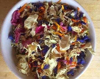 1 litre Natural dried flower petal confetti
