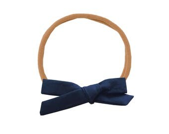 Schoolgirl Bow or Pigtail Set /// Midnight