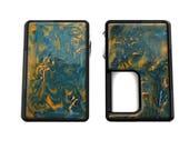 Vape Panel - 2 Colour Custom Resin Pearly Swirly Self Adhesive Panel Set for Vandy Vape Pulse BF Wrap Skin