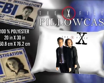 X Files Mulder Scully  Pillowcase