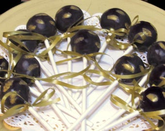 Rum /Black Cake Pops:  Party favors for all occasions