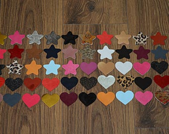 Lot of Stars and Hearts Leather (2017082003)