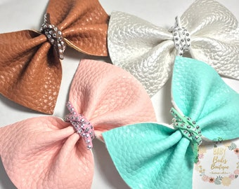 Knotted Bows/Hair Clips/Headband/Pinched Bows/Textured Fabric