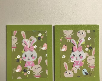 Easter Bunny 2 pack greeting cards