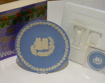 Wedgwood Christmas 1982 Lambeth Palace London Pale Blue Jasper Plate Boxed