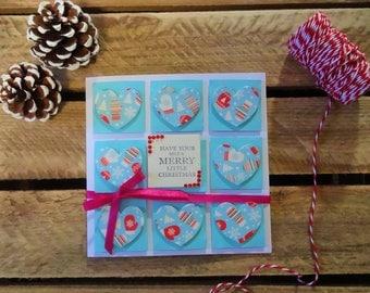 handmade cute Christmas card wife, kids Christmas handmade cards, Xmas card handmade, kids handmade Xmas cards,