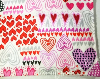 Red and pink Velntine's day catnip Cat Blanket!