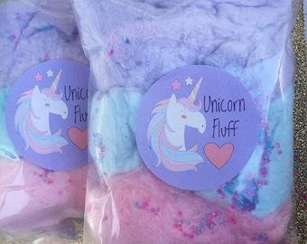 Unicorn Cotton Candy Favors (16) Cotton Candy Bags   Goodie Bags   Cotton Candy Gifts   Cotton Candy Favors   Fluff   Unicorn Theme