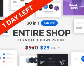 ENTIRE SHOP PowerPoint and Keynote Bundle | 95% OFF