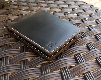 Mens Wallet Handmade Wallet Crazy Horse Leather Wallet Bifold With Coin Pocket Distressed And Rugged Look Wallet For Men