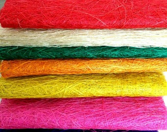 Handmade Abaca Fiber Sheet Craft Supplies 18 inches x 5 yards - Various Colours (47)