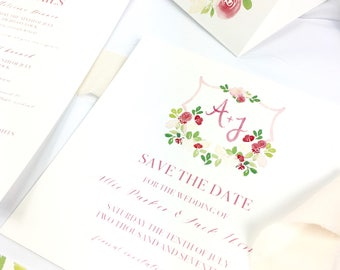 In Bloom- Save the Date DEPOSIT Wedding Stationery
