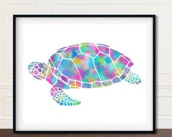 Sea Turtles, Sea Turtle Decor, Gift For Her, Turtle Watercolor, Sea Turtle Artwork, Sea Turtle Print, Sea Turtle Art Print, Turtle Poster