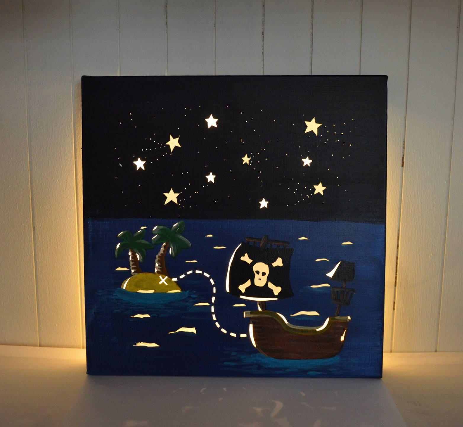 tableau lumineux led d coration murale chambre d 39 enfant. Black Bedroom Furniture Sets. Home Design Ideas