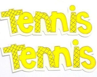 2 cut Tennis 13.5 cm My Mind's eye creative cardmaking scrapbooking