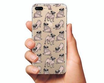 Funny  pug phone case iPhone 6 case iPhone 7 case iPhone 7 Plus case Samsung S8 case Samsung S7 case iPhone 6 Plus case dog case cute case